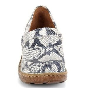 Born Toby Roccia's Snake Suede Slip-On Clogs